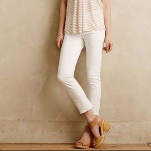 Pilcro and the Letterpress Stet White Jeans